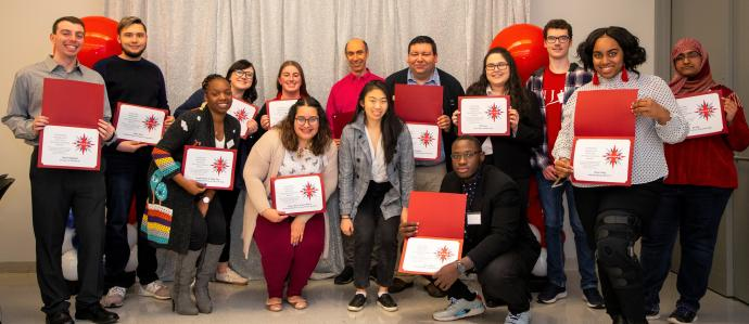 NJIT L.E.A.D.S. 2020 student and guest presenters pictured with their certificates of appreciation.